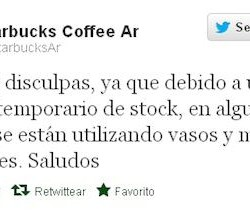 Cagada Tweet Starbuks